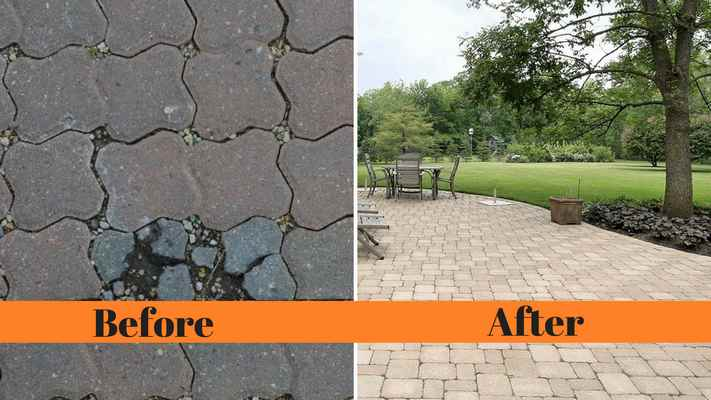 cracked pavers